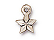 20 - TierraCast Pewter CHARM Faceted Star, Antique Silver Plated
