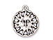 10 - TierraCast Pewter CHARM Sunshine, Antique Silver Plated