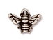 10 - TierraCast Pewter CHARM Honey Bee, Antique Silver Plated