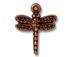 10 - TierraCast Pewter CHARM Dragonfly, Antique Copper Plated