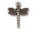 10 - TierraCast Pewter CHARM Dragonfly, Antique Silver Plated