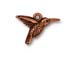 10 - TierraCast Charm Hummingbird Pewter Antique Copper Plated