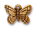 10 - TierraCast Pewter CHARM Monarch Butterfly, Antique Gold Plated