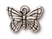 10 - TierraCast Pewter CHARM Monarch Butterfly, Antique Silver Plated