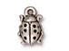 10 - TierraCast Pewter CHARM Lady Bug, Antique Silver Plated