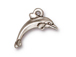 10 - TierraCast Pewter CHARM Dolphin, Antique Silver Plated