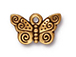 10 - TierraCast Pewter CHARM Spiral Butterfly, Antique Gold Plated