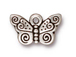 10 - TierraCast Pewter CHARM Spiral Butterfly, Antuque Silver Plated