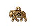 10 - TierraCast Pewter DROP  GITA  Antique Gold Plated
