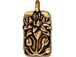 10 - TierraCast Pewter Antique Gold Floating Lotus Charm