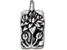 10 - TierraCast Pewter Antique Silver Floating Lotus Charm