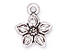 10 - TierraCast Pewter DROP  Star Jasmine Antique Silver Plated