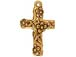 10 - TierraCast Pewter Charm Floral Cross Antique Gold Plated