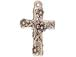 10 - TierraCast Pewter Charm Floral Cross Antique Silver Plated