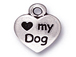10 - TierraCast Pewter DROP Love My Dog Antique Silver Plated