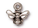 10 - TierraCast Pewter CHARM Small Honey Bee Antique Silver Plated