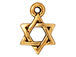 20 - TierraCast Pewter Star of David Pendant Antique Gold Plated