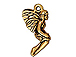 10 - TierraCast Pewter DROP  Leaf Fairy, Antique Gold Plated