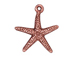 10 - TierraCast Pewter CHARM Starfish, Antique Copper Plated