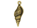 10 - TierraCast Pewter CHARM Large Spindle Shell, Antique Gold Plated