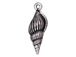 10 - TierraCast Pewter CHARM Large Spindle Shell, Antique Silver Plated