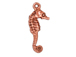 20 - TierraCast Pewter CHARM Seahorse,  Antique Copper Plated