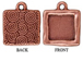 5 - TierraCast Pewter CHARM Square with Square Mounting, Antique Copper Plated