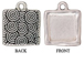 5 - TierraCast Pewter CHARM Square with Square Mounting, Antique Silver Plated