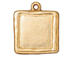 5 - TierraCast Pewter Bright Gold Plated Abstract Large Square Frame