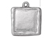 5 - TierraCast Pewter Bright Rhodium Plated Abstract Large Square Frame