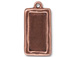 5 - TierraCast Pewter Charm Simple Rectangle Frame, Antique Copper Plated