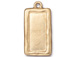 5 - TierraCast Pewter Charm Simple Rectangle Frame, Bright Gold Plated