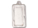 5 - TierraCast Pewter Charm Simple Rectangl Frame, Bright Rhodium Plated