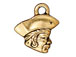 10 - TierraCast Pewter CHARM Pirate Antique Gold Plated