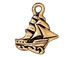 10 - TierraCast Pewter CHARM Clipper Ship Antique Gold Plated