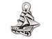 10 - TierraCast Pewter CHARM Clipper Ship Antique Silver Plated