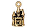 10 - TierraCast Pewter CHARM Castle Antique Gold Plated