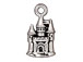 10 - TierraCast Pewter CHARM Castle Antique Silver Plated