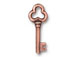 10 - TierraCast 22mm Pewter Charm Key Antique Copper Plated