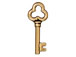 10 - TierraCast 22mm Pewter Charm Key Antique Gold Plated