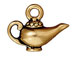 10 - TierraCast Pewter CHARM Aladdin' s Lamp Antique Gold Plated
