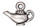 10 - TierraCast Pewter CHARM Aladdin' s Lamp Antique Silver Plated