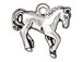 10 - TierraCast Pewter CHARM Horse Antique Silver Plated