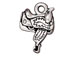 10 - TierraCast Pewter CHARM Saddle Antique Silver Plated
