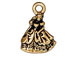 10 - TierraCast Pewter CHARM Princess Antique Gold Plated