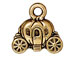 10 - TierraCast Pewter CHARM Carriage Antique Gold Plated