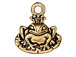 10 - TierraCast Pewter CHARM Frog Prince Antique Gold Plated