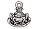 10 - TierraCast Pewter CHARM Frog Prince Antique Silver Plated