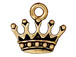 10 - TierraCast Pewter CHARM King' s Crown Antique Gold Plated