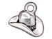10 - TierraCast Pewter CHARM Cowboy Hat Antique Silver Plated